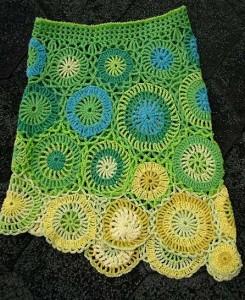 креативная юбка, связанная крючком