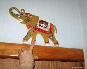 слон из фанеры роспись акрилом