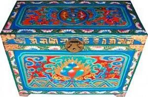 тибетская роспись мебели комод