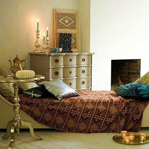 оригинальная этническая спальня