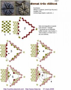 кулон схема плетения