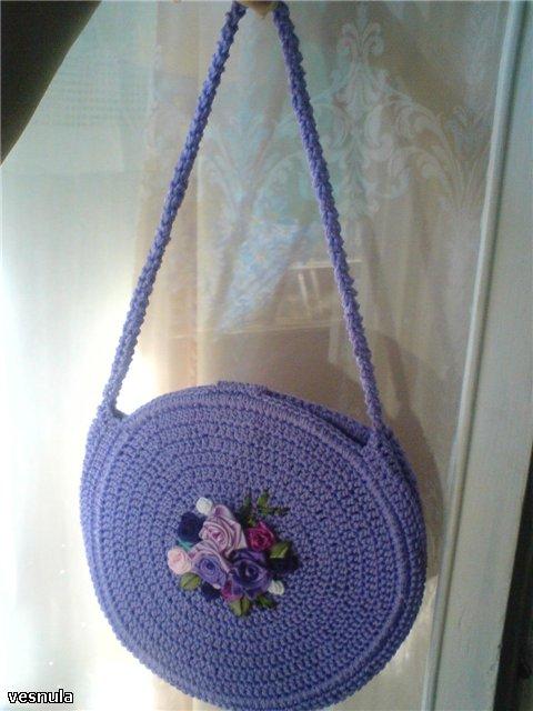 сумочка для девочки вязаная крючком.