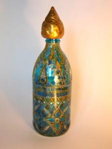 роспись стеклянной бутыли