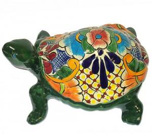статуэтка черепахи с мексиканской росписью