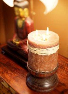 восточный декор - свеча с тремя фитилями