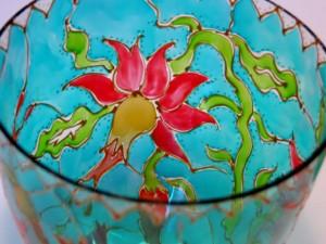 роспись стекла фужеры