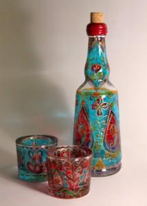 роспись стекла графин стаканы