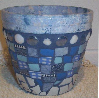 ваза украшенная мозаикой своими руками