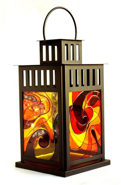 Роспись по стеклу фонарик 2