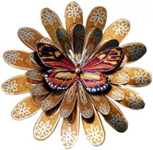 бабочка из бумаги роспись