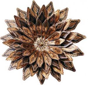 цветок из бумаги роспись акрилом