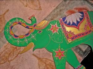 голова слона роспись