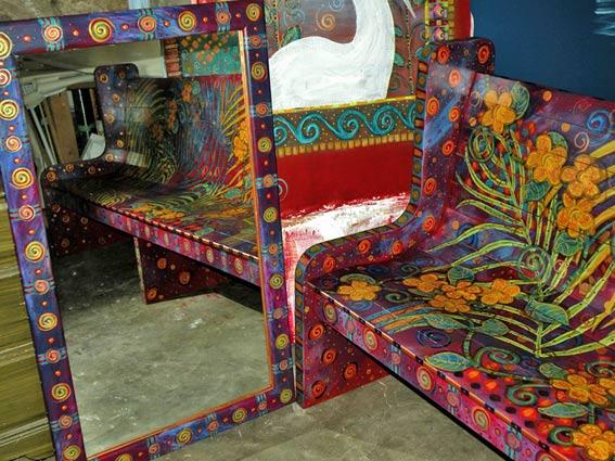 роспись мебели хенд-мейд