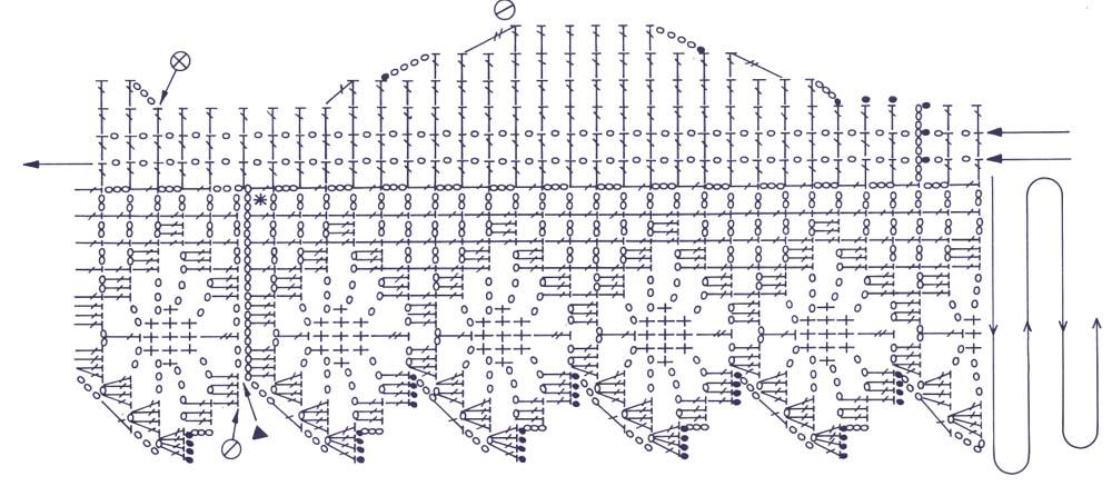 абажур связанный крючком схема