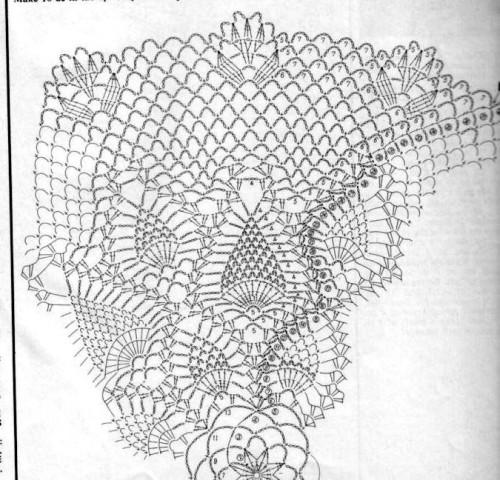 Схема вязания салфетки 1-1
