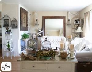 наполнение комнаты мебель и декором