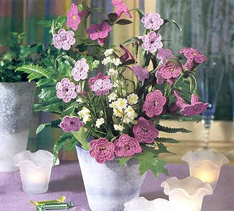 Схемы вязанных крючком цветов