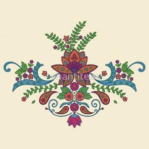 индийские узоры для росписи следы