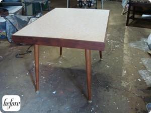 А вот реставрация стола