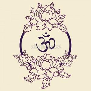 индийские рисунки для росписи лотосы