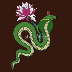 индийские рисунки для росписи змея с лотосом