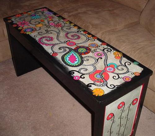 Мебель своими руками красками 108