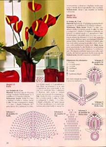 Вязание крючком - вязанные цветы, розы и лилия своими руками, схема и.