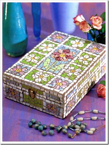 шкатулка из мозаики своими руками