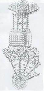 схема вязания абажура крючком