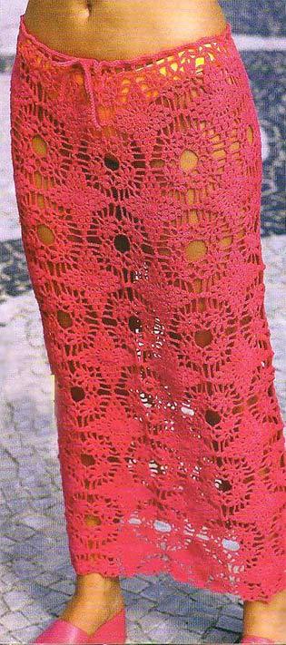 юбка из мотивов крючком.
