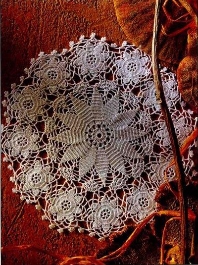 вязание крючком - салфетка