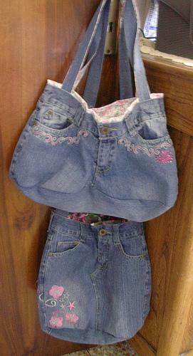 """...Как сшить настоящую сумку из джинсовой ткани """".  Итак - поехали!"""