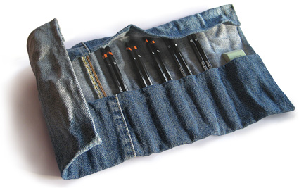 чехол для отверток из старых джинсов