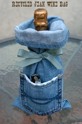 чехол из старых джинсов