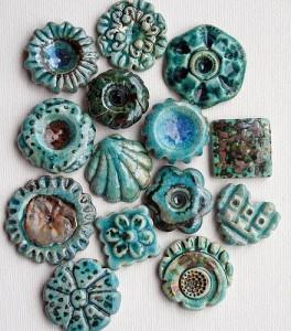бижутерия хенд-мейд из керамики пластики