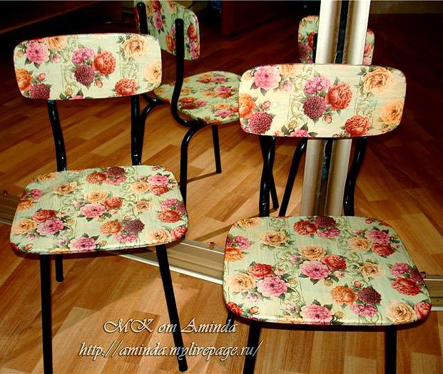 декупаж реставрация стульев своими руками