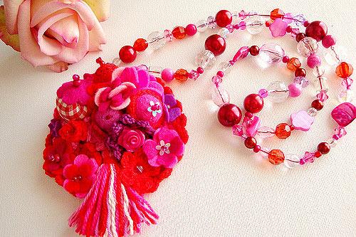 розовые бусы