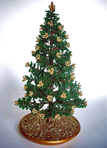 b Мастер-класс: Новогодняя елочка из бисера.