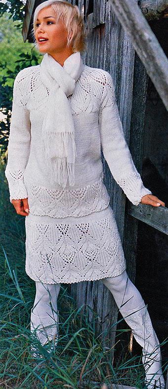 вязание юбки спицами и схемы.