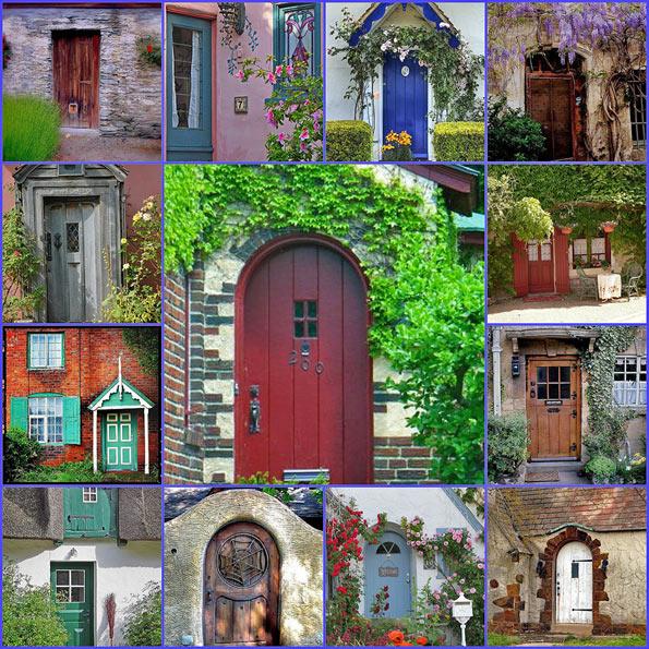 Декор дверей на даче своими руками 39