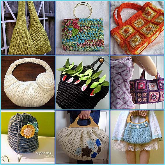 Идеи для сумок крючком