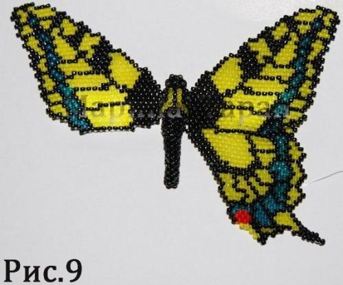 Как сплести из бисера бабочку