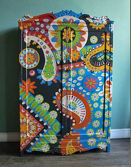 роспись мебели шкаф дизайнер лукас райс
