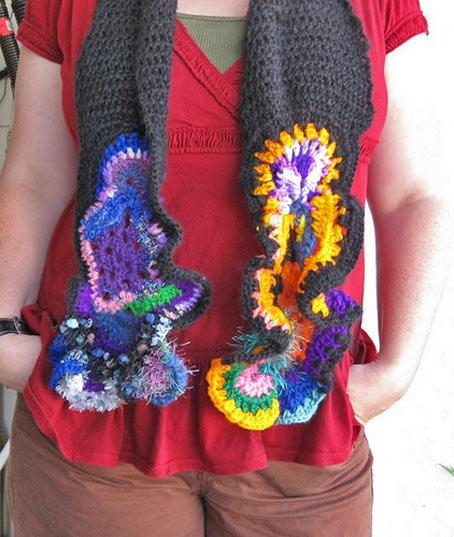 шарф в стиле фриформ
