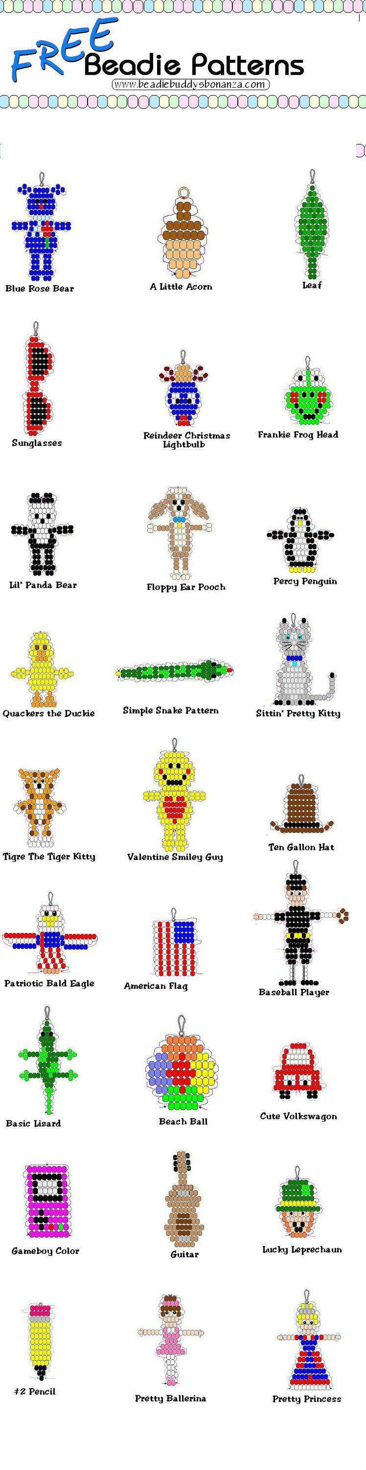 Схемы детских серег из бисера