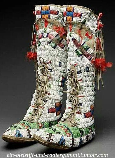 Сапоги североамериканских индейцев