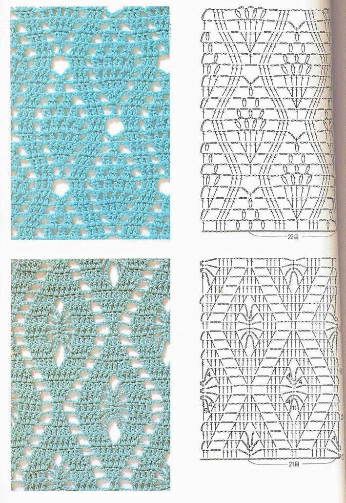 Вязание крючком - Схемы, узоры вязания
