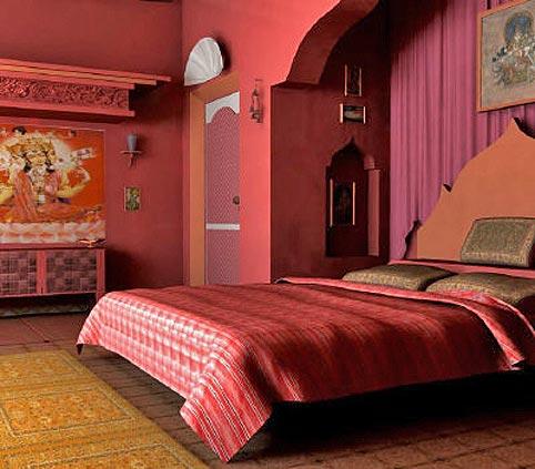 Индийский стиль интерьера - это бирюзовые, малиновые, оранжевые цвета...