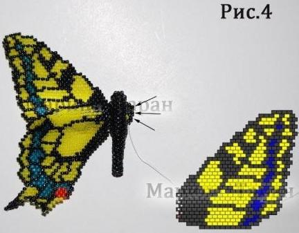 Как сплести бисерную бабочку своими руками