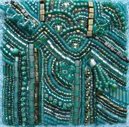 вышивка бисером в стиле фри